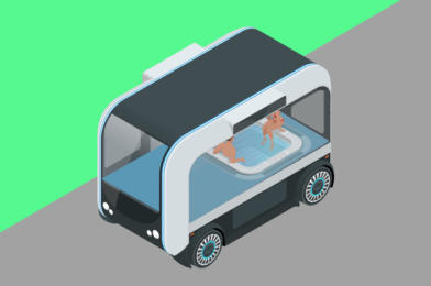 The Autonomous Hot Tub and other moving Rooms